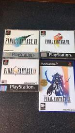 Final fantasy games ps1 ps2