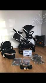 Icandy peach 2016 Black magic blossom with carrycot