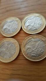Set of 2002 commonwealth games £2 coins