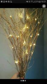 Gold twigs with lights