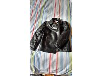 Imitation leather jacket age 5 girl biker style very good condition