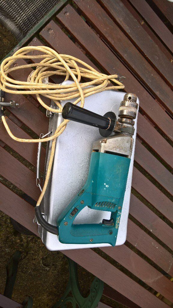 makita corded heavy duty hammer drill twin speed builders tool with case