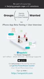 Paid Research: iPhone App Beta Testing for A Research Project in Sharing Emotion