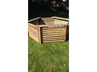 400 gallon wooden koi pond