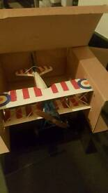 Retro metal aeroplane