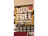 IPG Paintballing 10 tickets with FRER 100 paintballs each