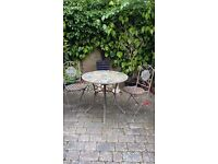4 Seater Bistro Set Mosaic Outdoor Garden Patio Round Large Iron Terrace Table