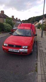 QUICK SALE £450 O.N.O VW Caddy 2003 reg, great condition, recent MOT
