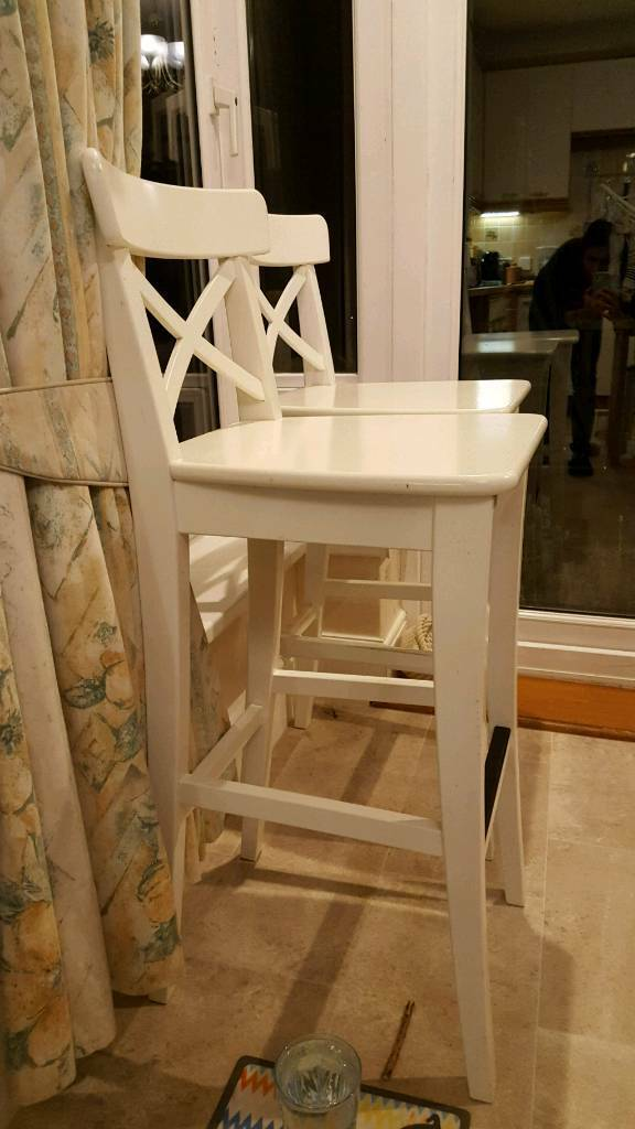 Fantastic Ikea Ingolf Bar Stool With Back Rest In Wrington Bristol Gumtree Unemploymentrelief Wooden Chair Designs For Living Room Unemploymentrelieforg