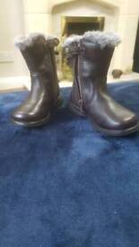 Infant size 5G brown leather boots worn once