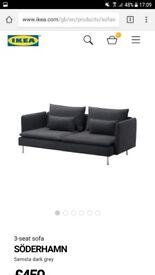 Ikea soderhamn grey sofa