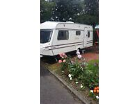 Used lunar 4 birth caravan for sale
