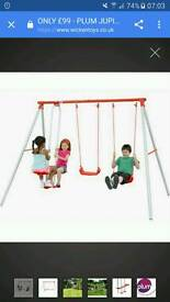 Childrens swing set