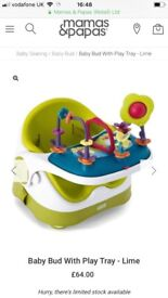 Mamas & papas baby bud booster seat with play tray