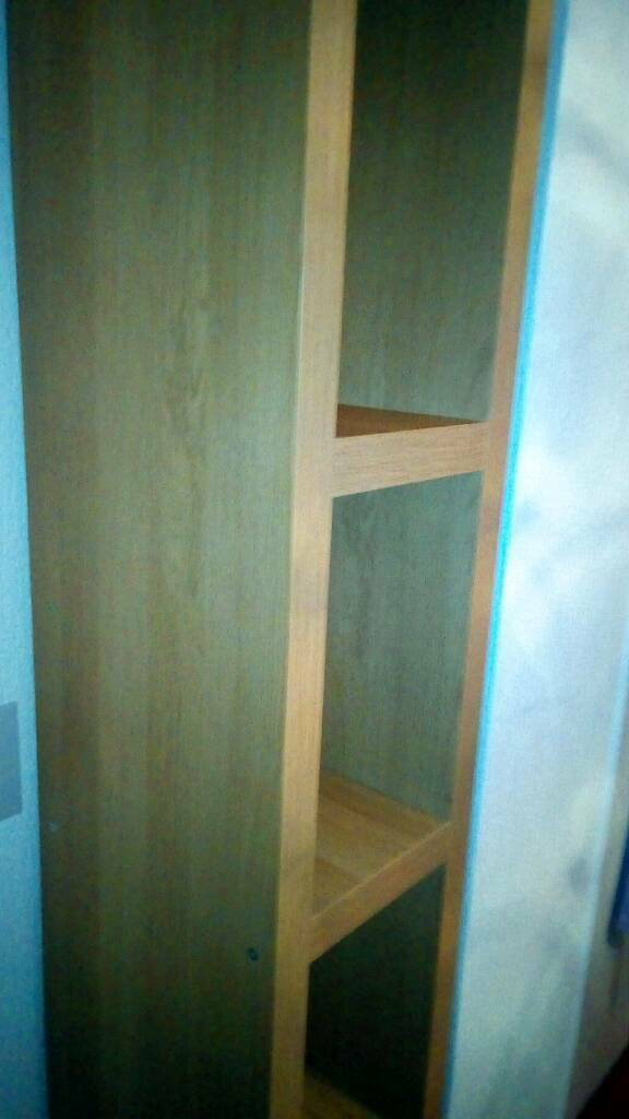 High corner unit or TV stand with 4 inch silver legs