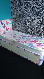 girls single bed with underbed storage