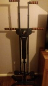 Maxiclimber vertical fitness machine.