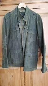 Men's green moleskin army jacket