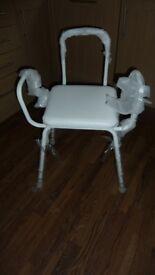 Chair with riser legs