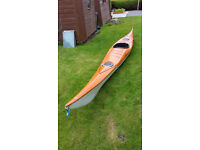 15 ft sea kayak with paddle