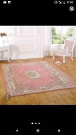 Lotus Premium Dynasty Wool Pink Rug