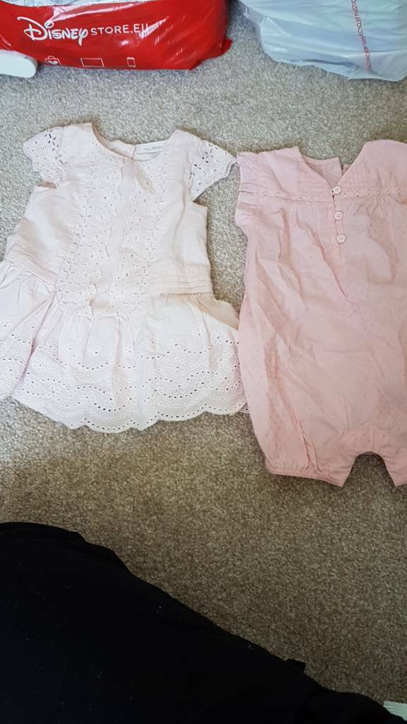 2 summer outfits next and m and s 0-3
