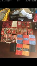 Selection of evening times wee red book from 1946-1961