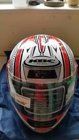 KBC Motorcycle Helmet Medium NEW c/w bag
