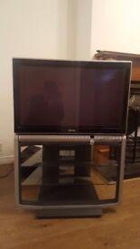"Toshiba 32"" big back tv on own stand"