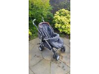 Pram, Silver Cross 3D travel system and buggy board