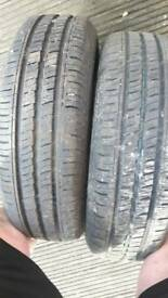 155/65/13 2 × windforce tyres on matiz rims