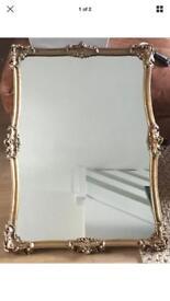 Gold Ornate Antique Mirror