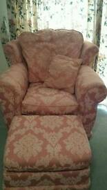 FREE Arm chair upholstery project (foot stool not included)