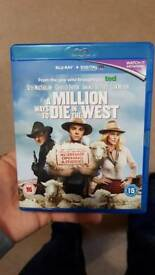 A Million Ways To die in the West Bluray Blu-Ray blu ray - not DVD