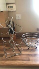Wine rack and fruit bowl