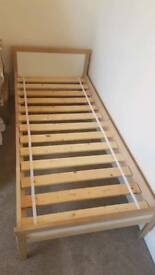 Ikea wooden toddler bed frame