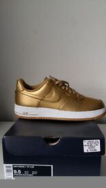 Wow air force 1 in gold size 9 first 40 cash