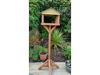 Wooden bird table