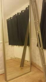 Full mirror sliding wardrobe door kit