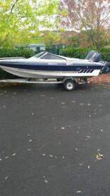 15ft Fletcher speedboat 80hp yamaha plus galvanised trailer