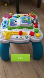 Leap frog activity musical table