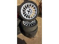 Ford st oz alloy wheels 215/45/17 4×108 fitment