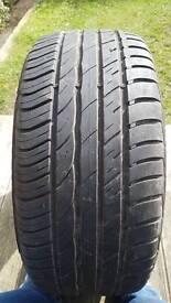 Barum tyre part worn