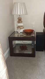 Set of Three Glass Lamp Tables £100