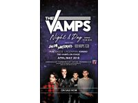 EXCELLENT Seats x 2 NEAR STAGE The Vamps O2 - BLK 101 RowM £40ea Sat 28th April