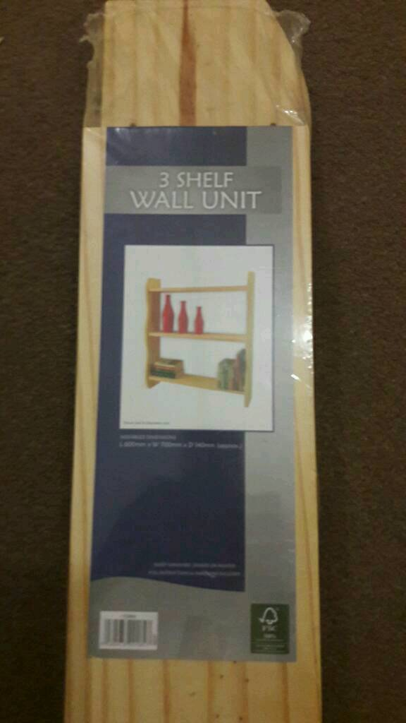 3 shelf wall unit