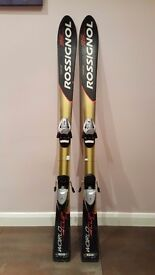 130CM Rossignol World Cup 95 skis and poles