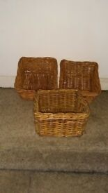 3 wicker baskets