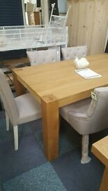 Heart of house Alston dining table and 6 chairs