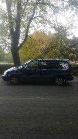Kia sedona 7 seater 2.9 diesel for sale great family car long mot, hanbrake needs adjusting. £695ono